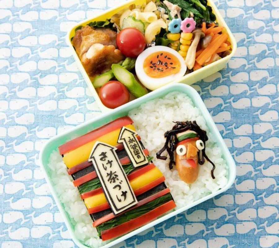great bento with ochaduke