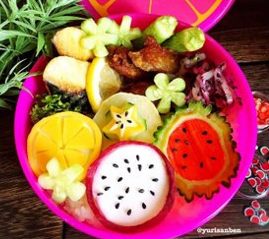 Fruits bento real