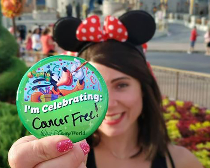 Blogger celebrates being cancer-free by going to Disneyworld