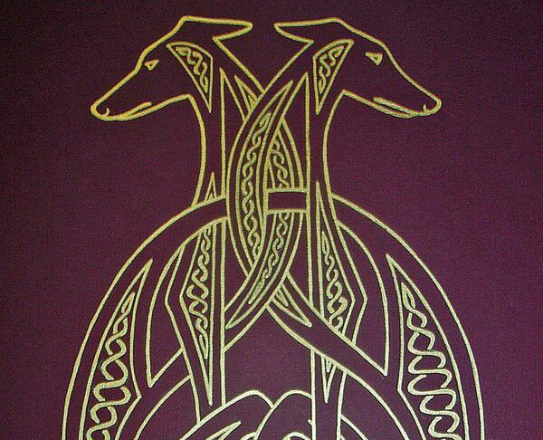 Artistic depictions of Celtic Hounds