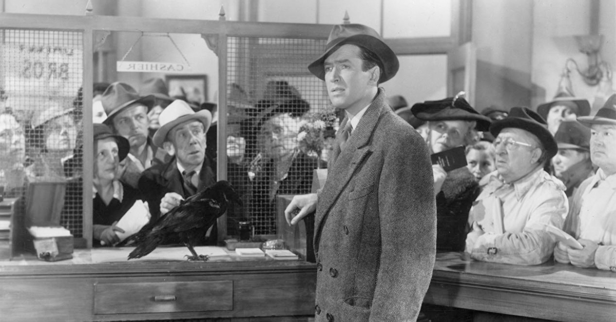 jimmy the raven with james stewart in it's a wonderful life