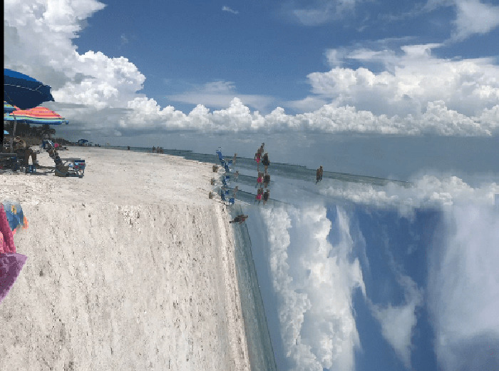 Photo taker moved the camera in the middle of a panoramic
