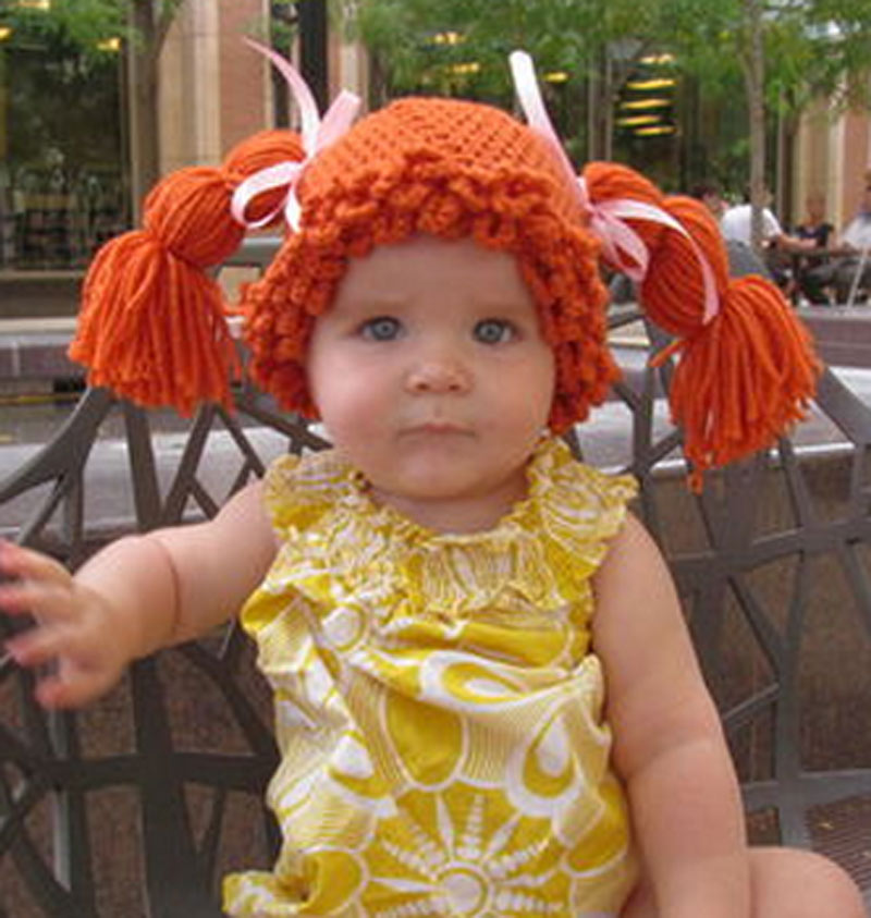 Cabbage Patch wig costume