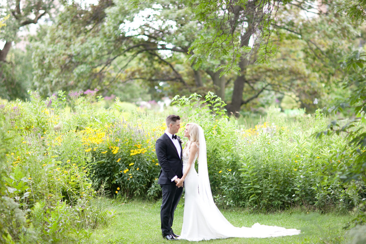 Wedding in a flower garden