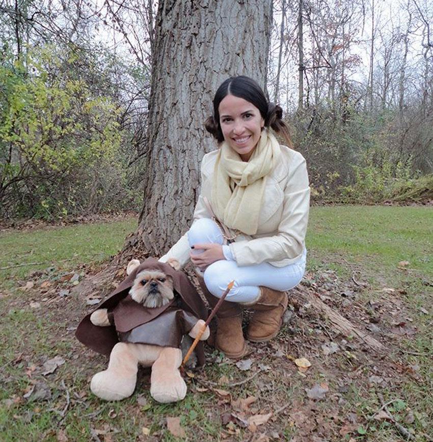 Leia and Ewok costume