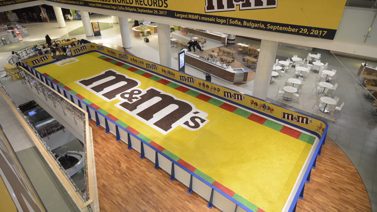 the largest m and m mosaic ever assembled