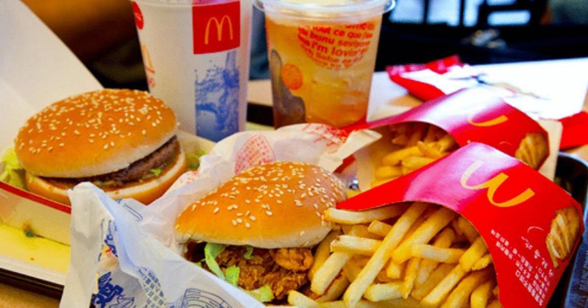 tray of Mcdonalds food
