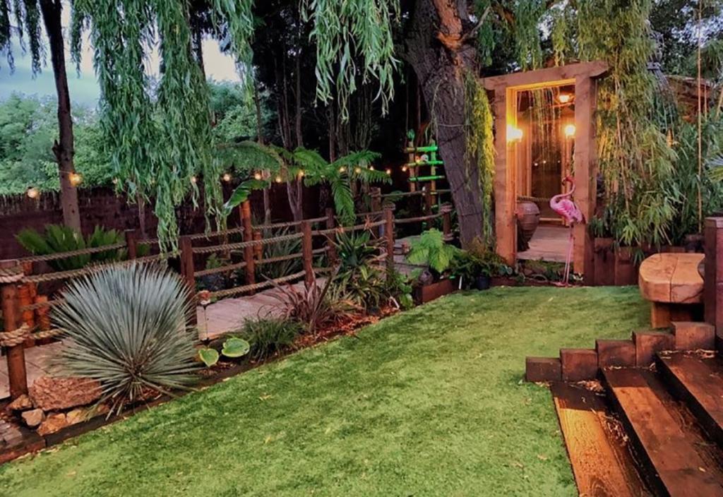 Exterior of the backyard