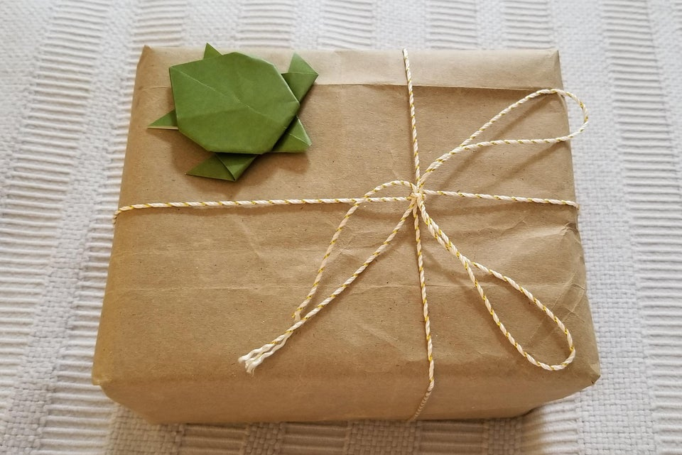 paper bag gift wrap in a box