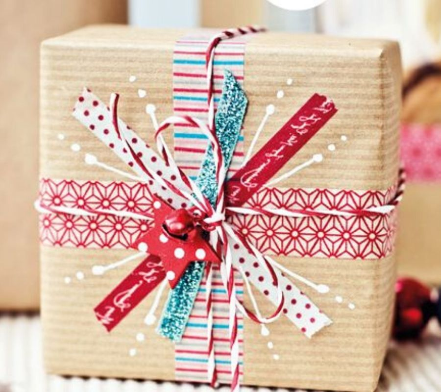 wrapping using washi tape