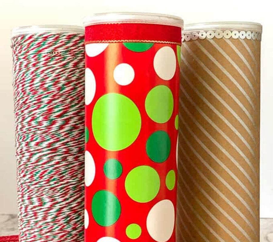 pringles cans used for wrapping