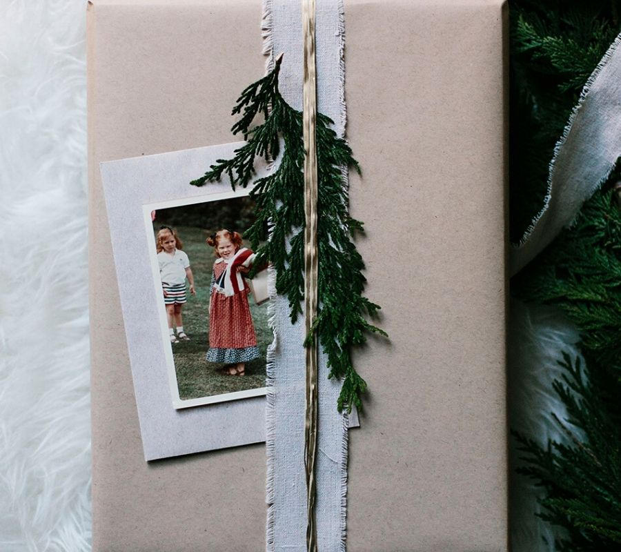 a picture of someone on a gift