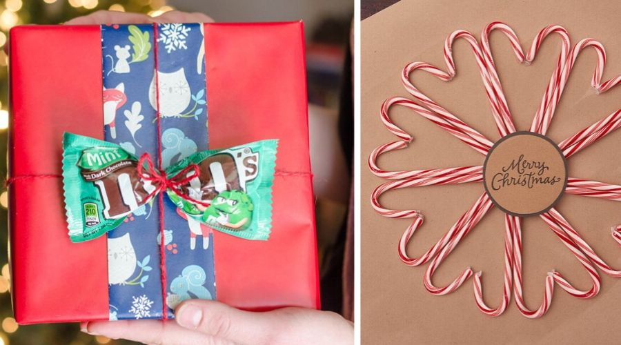 wrapping with candy