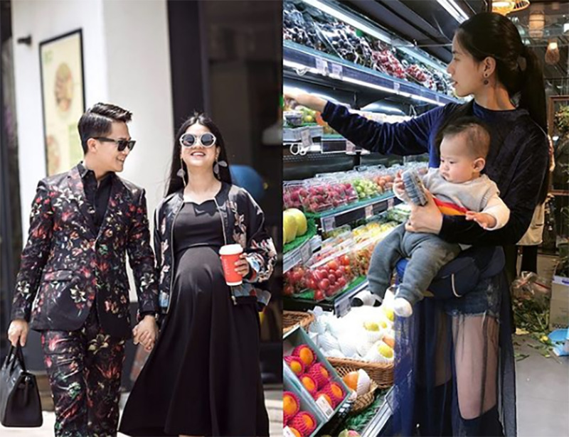 Jesse's wife grocery shops with their son.