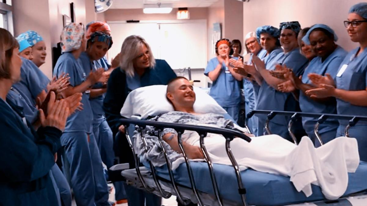marine in hospital