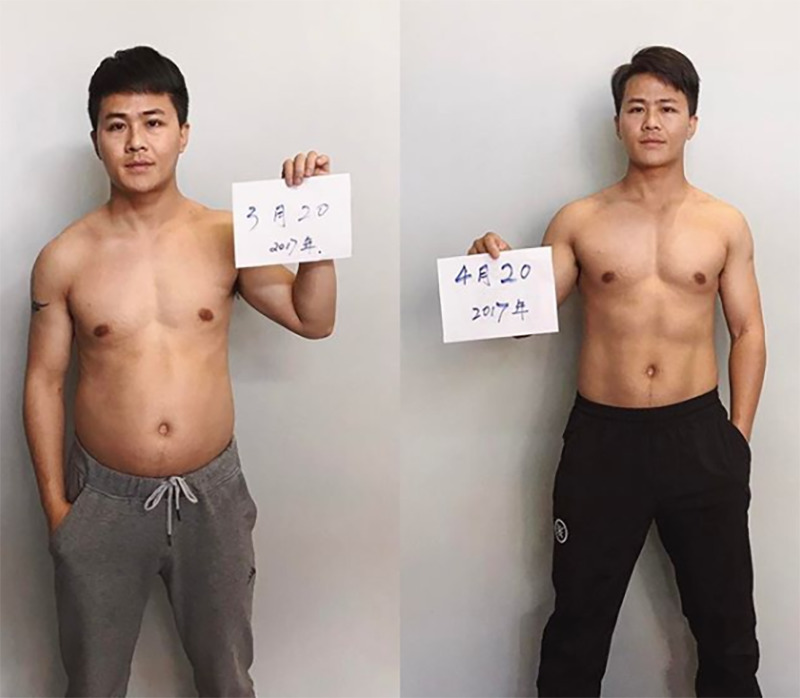Jesse shows his one month transformation.