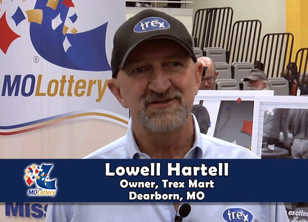 Lowell Hartell, owner of the Trex Mart in Dearborn, Missouri, interviews about the lottery.