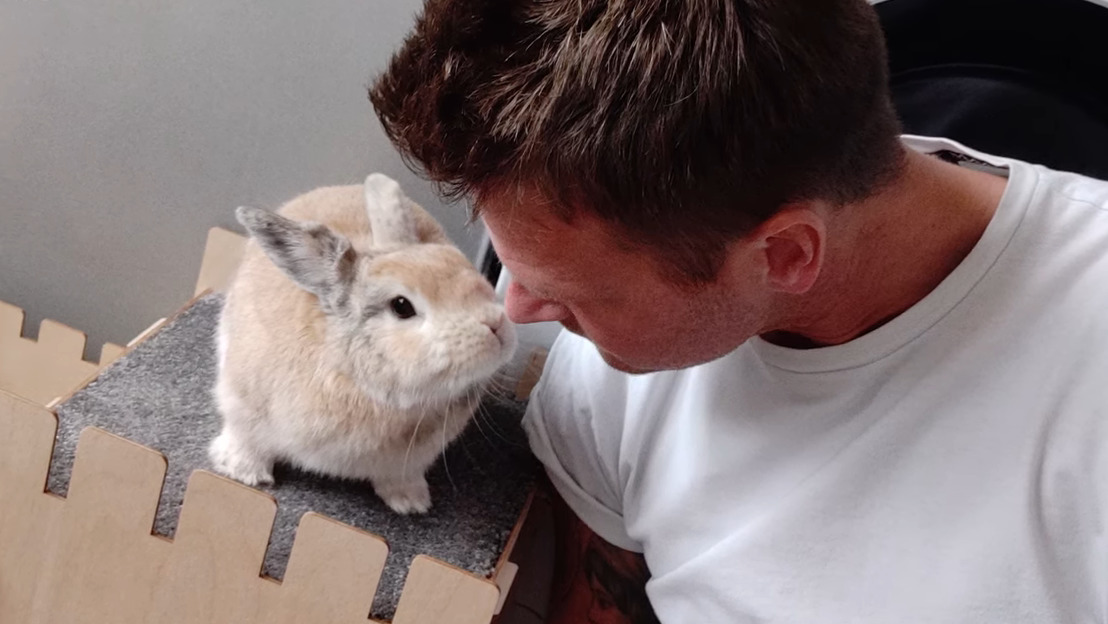 Meet the man who loves spending time with his best bunny