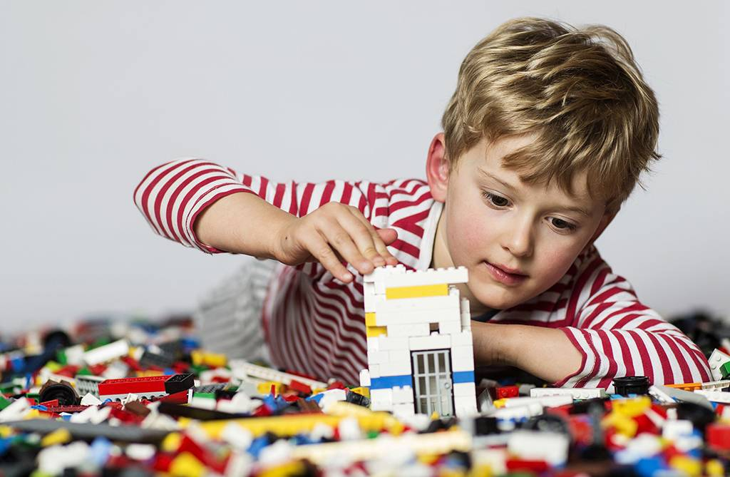 Child with legos