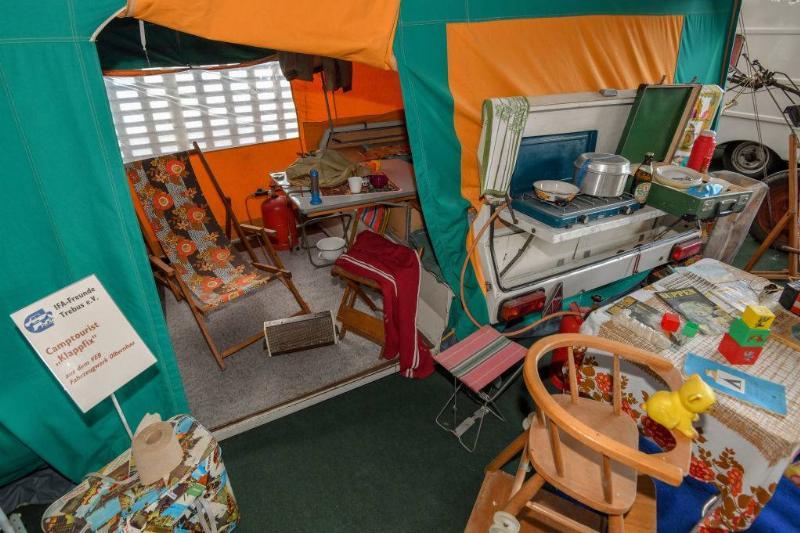 tent set up inside
