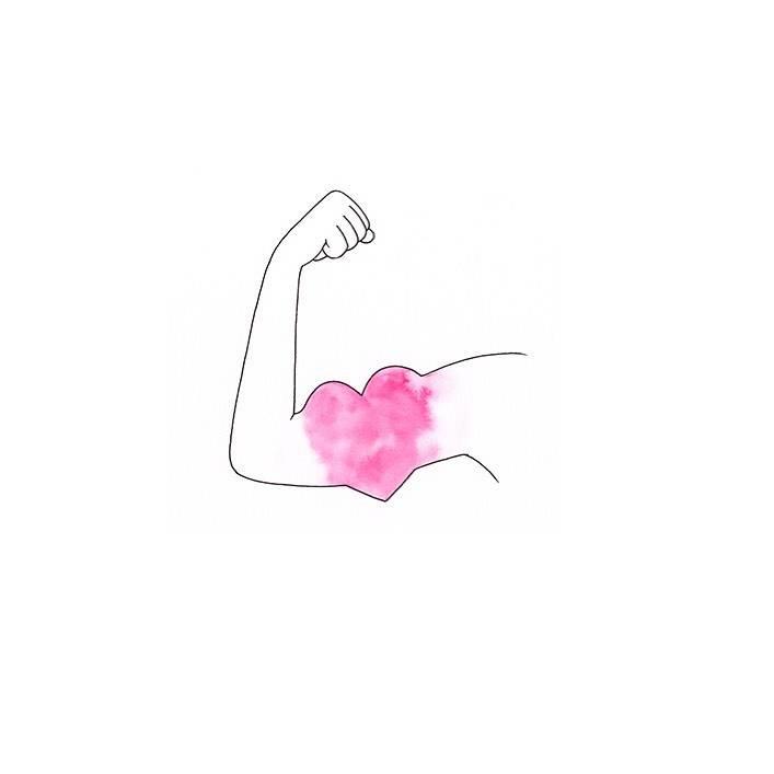 someone flexing in a heart shape