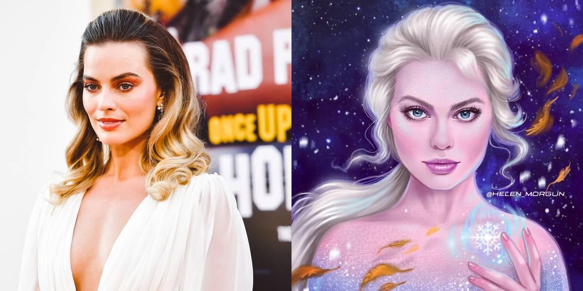 Margot Robbie As Elsa