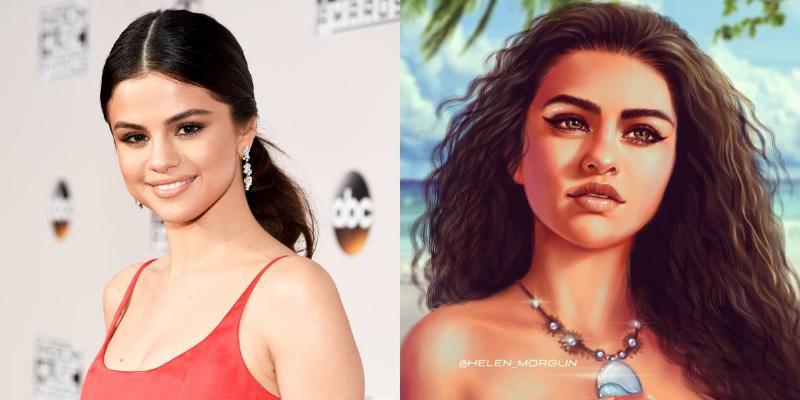 Selena Gomez As Moana