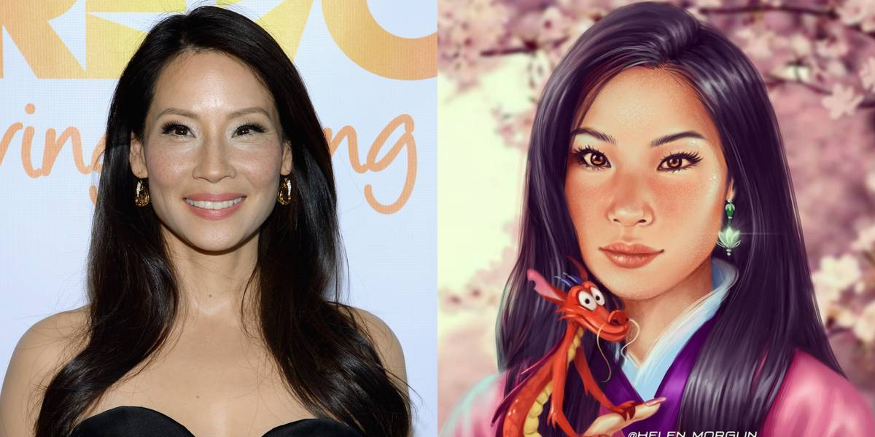 Lucy Liu As Mulan