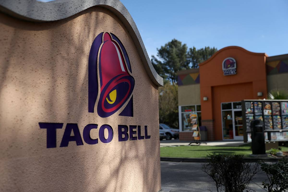 A Taco Bell restaurant is pictured.