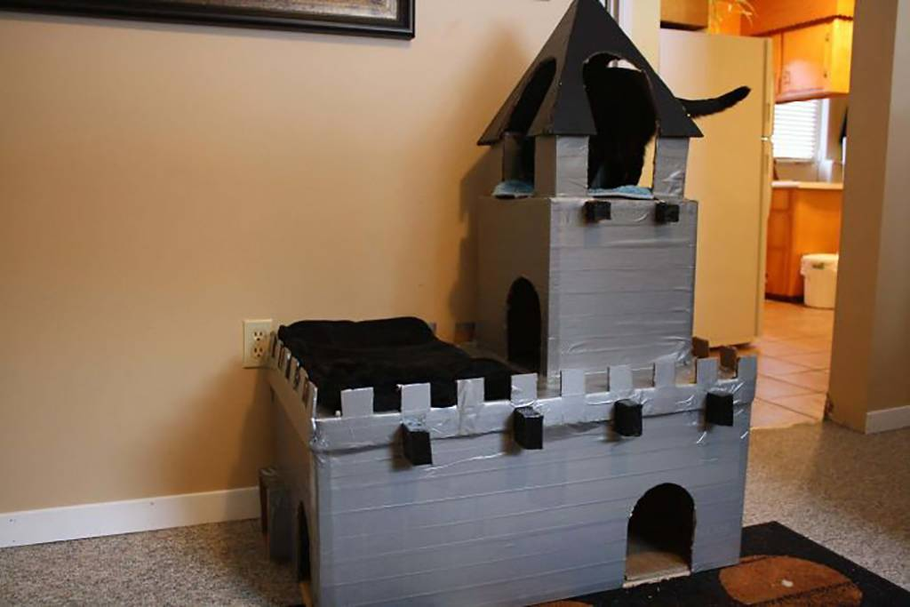 Duct tape castle
