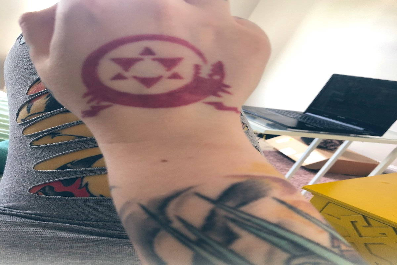 tattooed wrist frickle