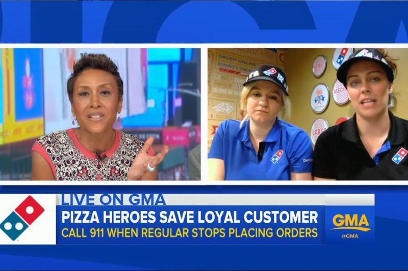 Domino's Employees Save Man's Life, Call 911 When Regular Stops Ordering 1-21 screenshot