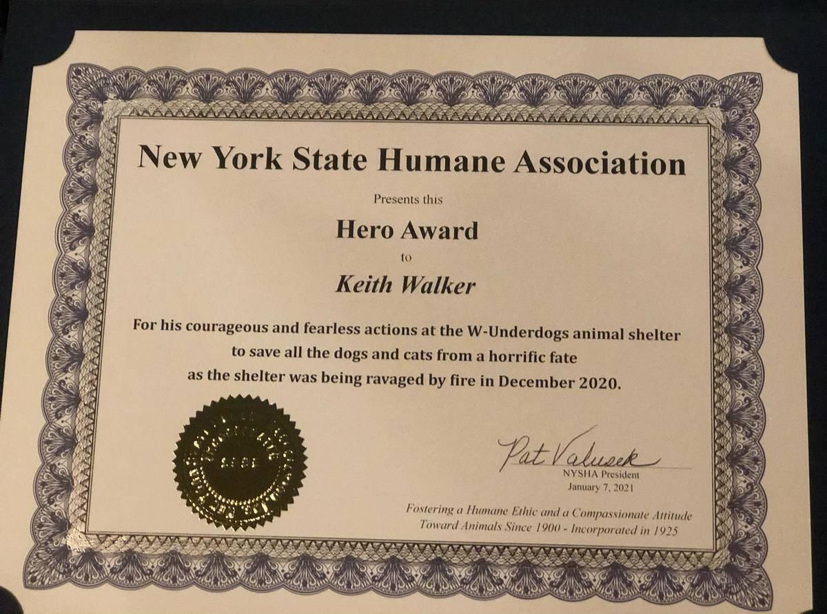 Keith Was Awarded The Hero Award