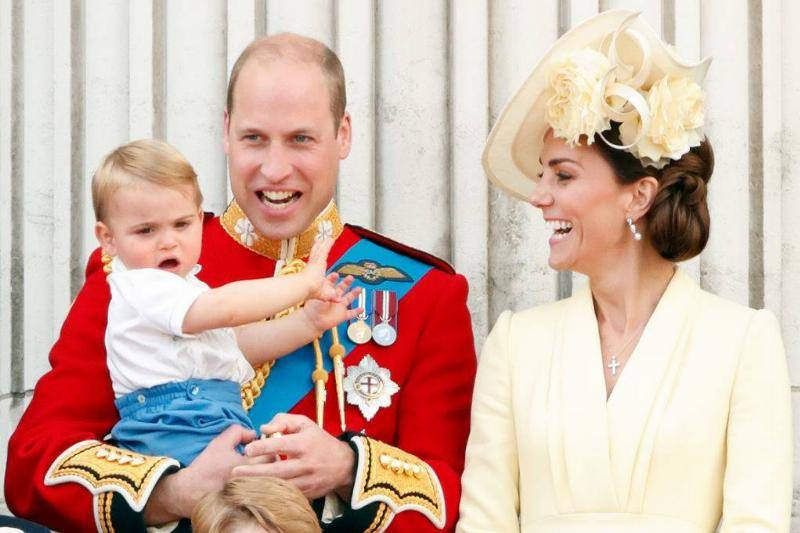 Prince Louis Having Fun With His Parents