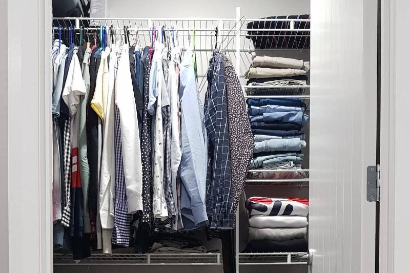 Clothes n a closet