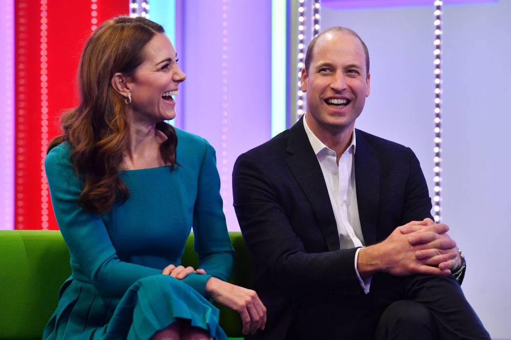 william and kate laugh as they visit the bbc in 2018