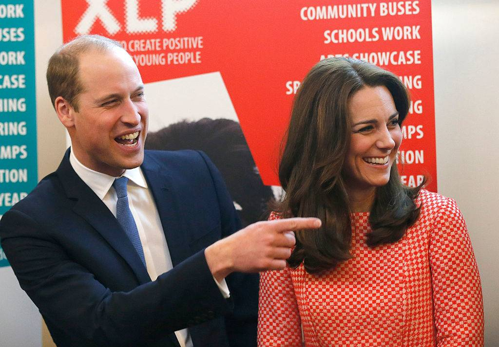 kate and william laughing in london in 2016