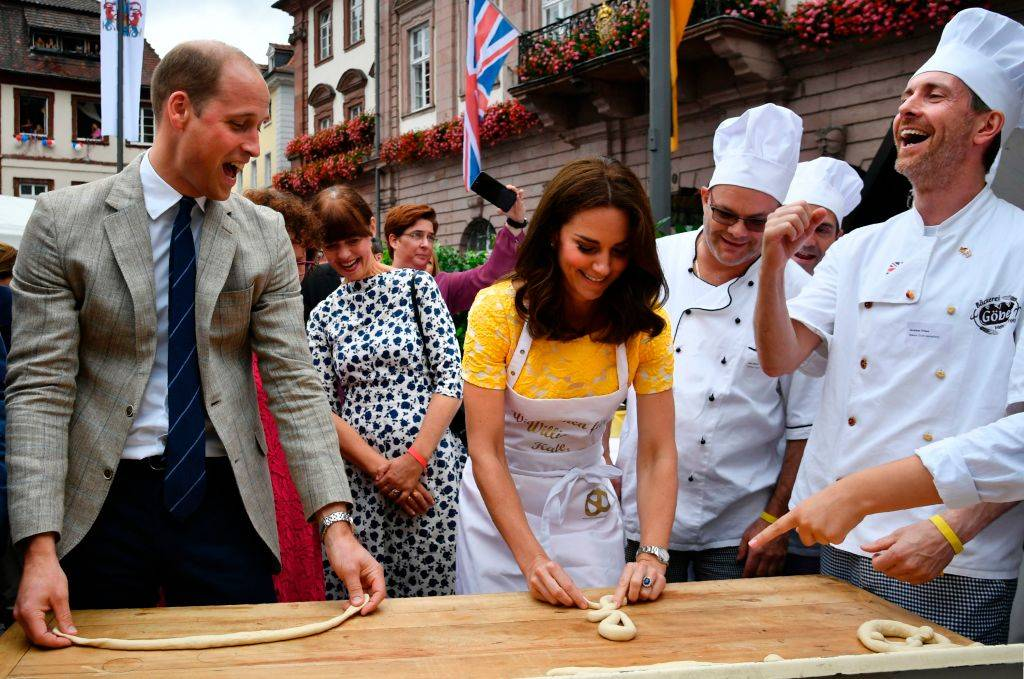 prince william and kate making pretzels in germany