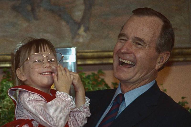 President Bush and Jessica McClure