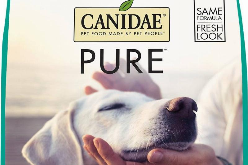 canidae grain-free pure dry dog food front of bag