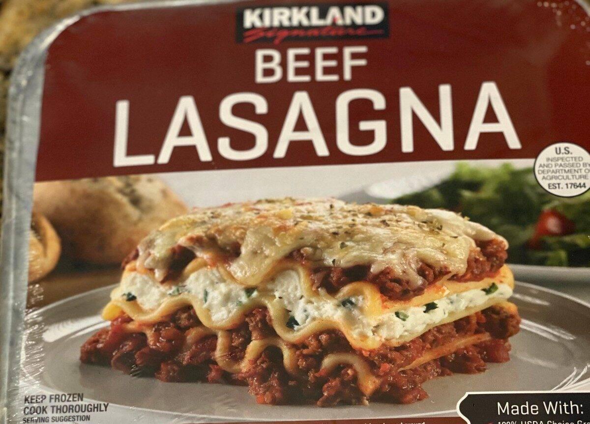 kirkland signature beef lasagna sold at costco