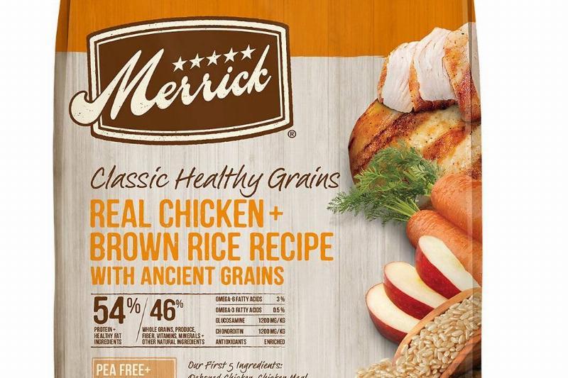 merrick classic healthy grains dog food bag