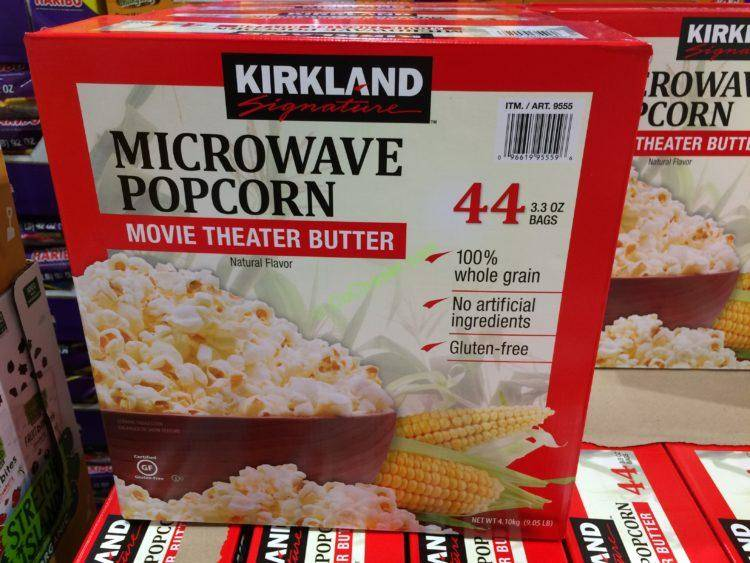 microwave popcorn with movie theater butter flavor at coscto