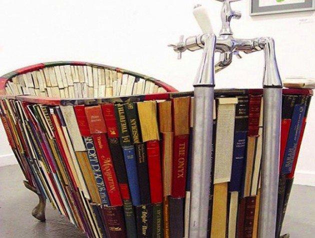 decorative book bathrub