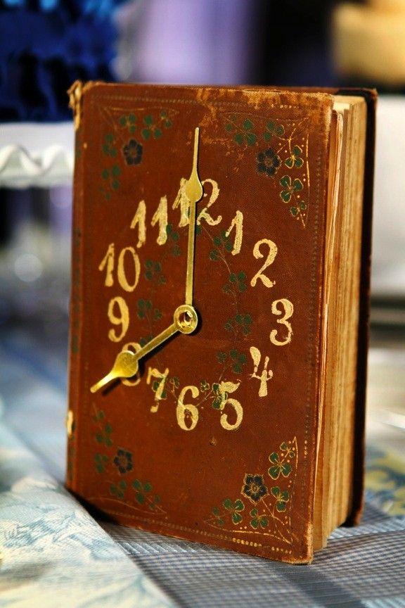 Old Book Clock
