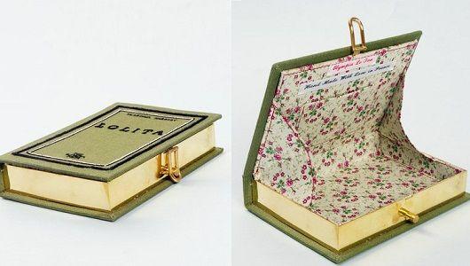 Clutch made of a book