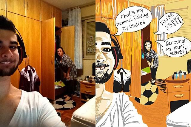 A Funny Selfie Cartoon Creation