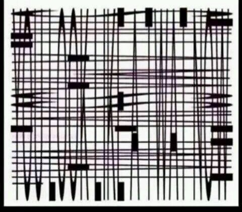 A mobile phone optical illusion