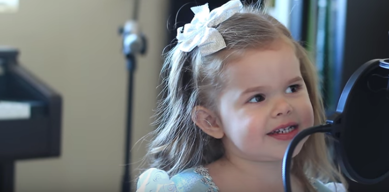 Adorable 3 year old singing Disney Songs