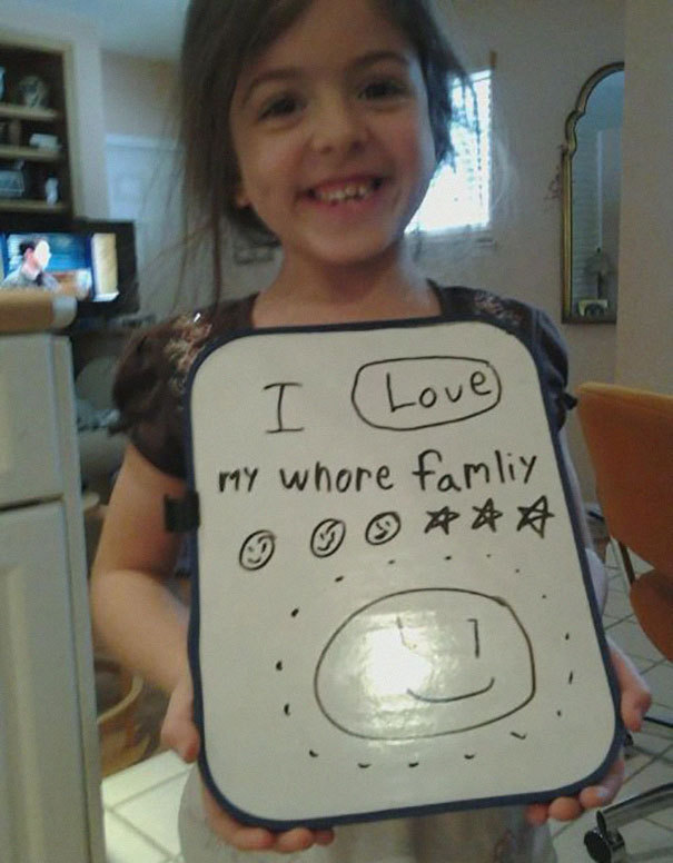 Another Funny and Dirty Accidental Spelling by a child
